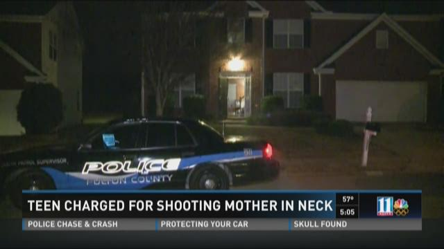 Teen charged for shooting mom in the neck