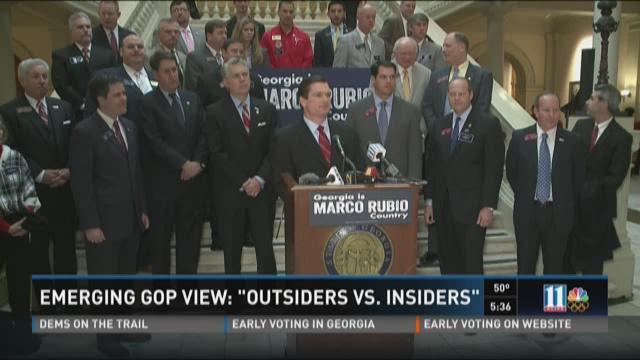 Emerging GOP View: 'Outsiders vs. Insiders'