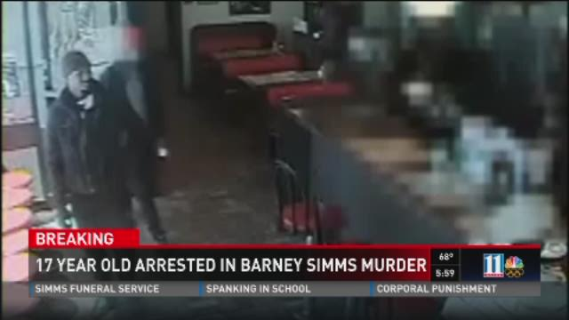 17-year-old arrested in Barney Simms murder