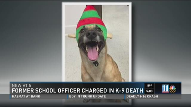 Investigators: School officer charged in connection with two K9 deaths