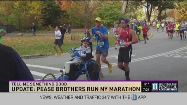 Pease brothers win at NYC marathon after last year's wheel break