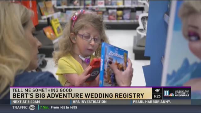 Couple donates entire wedding registry to Bert's Big Adventure