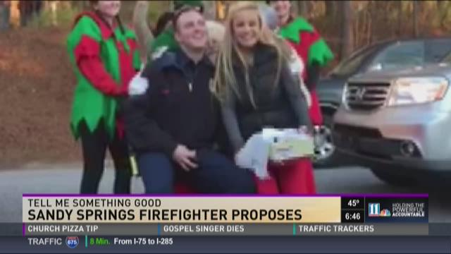 Cancer survivor gets an early gift from Santa, a proposal