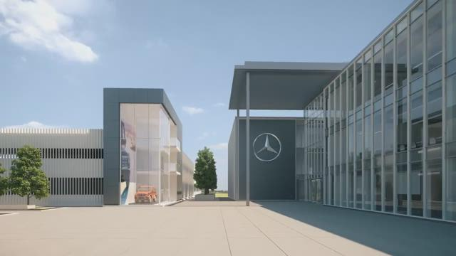 Fly through video of mercedes benz usa hq in for Mercedes benz sandy springs ga