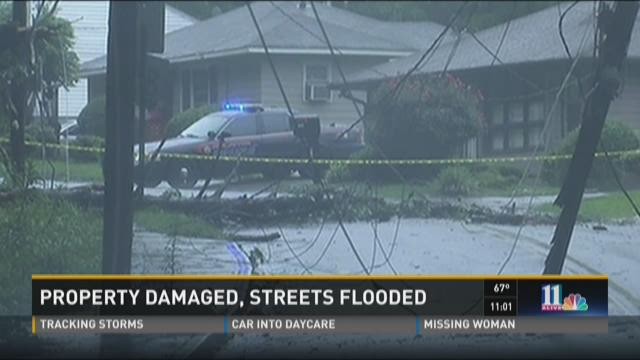 Property damaged, streets flooded