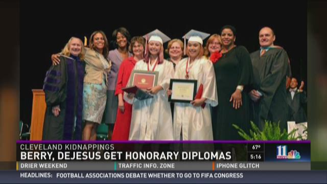 Cleveland kidnapping victims receive honorary diplomas