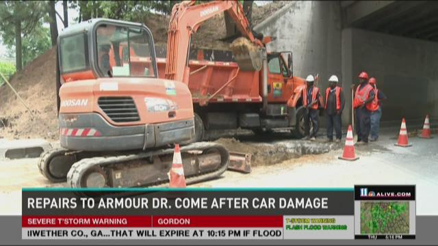 Repairs to Armour Drive come after car damage