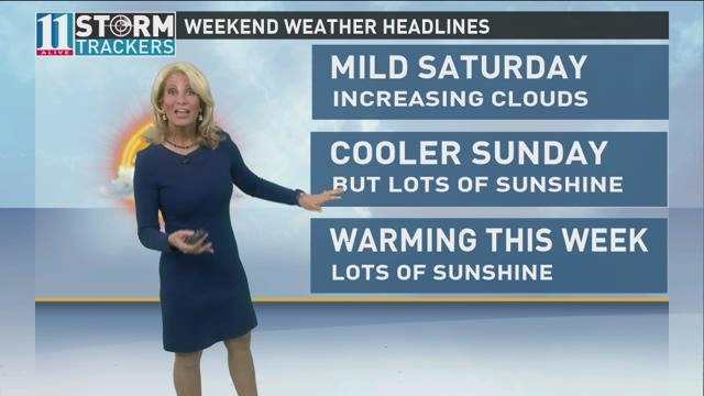 FIRST ALERT FORECAST: Beautiful weather continues Sunday with temperatures remaining in check