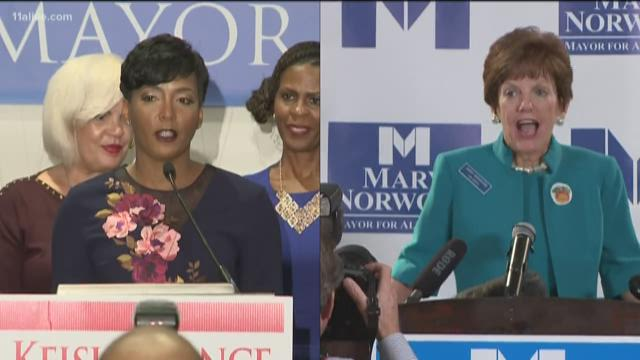 Norwood, Bottoms cast their votes for Atlanta mayor