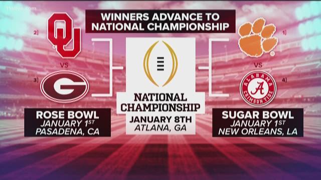 Georgia football to meet No. 2 Oklahoma in the Rose Bowl