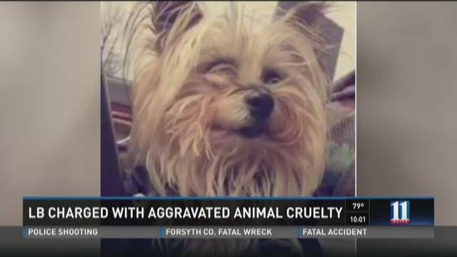 Linebacker charged with aggravated animal cruelty