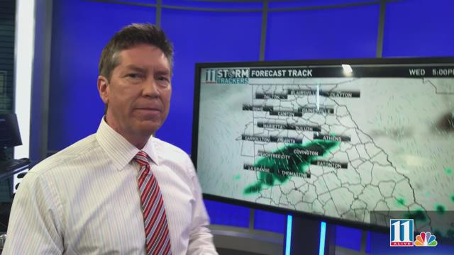 Threat of rain increases as cold front approaches