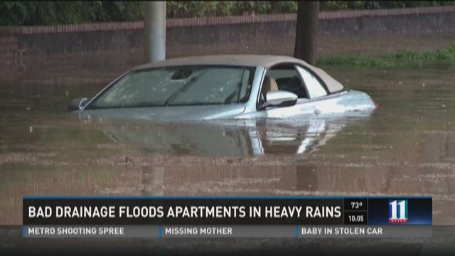 Cars on top of each other after Sunday's flood