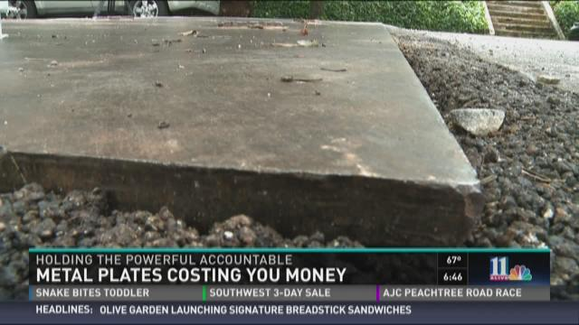 The cost of Atlanta's metal plates