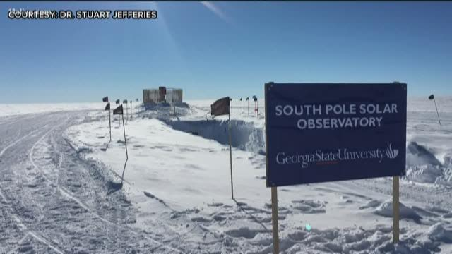 GEORGIA STATE UNIVERSITY PROFESSOR BRAVES THE SOUTH POLE TO STUDY THE SUN image