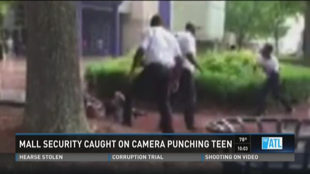Mall security caught on camera punching teen