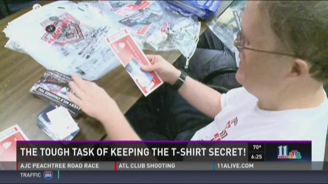Keeping the Peachtree T-shirt a secret