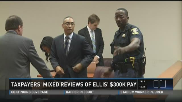 Taxpayers' mixed reviews of Ellis' $300K pay