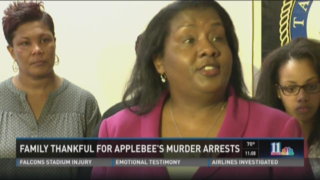 Family thankful for Applebee's murder arrests
