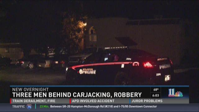 Three suspects accused of carjacking, robbery