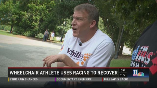 Wheelchair athlete uses racing to recover