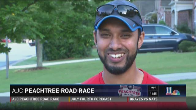 AJC Peachtree Road Race: Runner puts faith to test