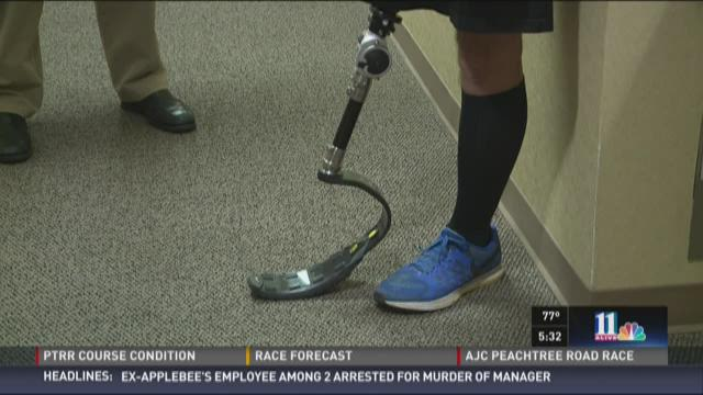PTRR: Man who lost leg running on the blade's edge