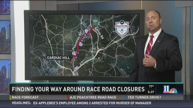 Finding your way around road race closures