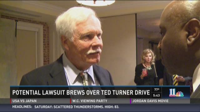 Potential lawsuit brews over Ted Turner Drive