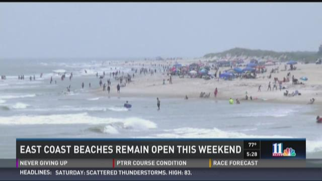 East Coast beaches to remain open this weekend