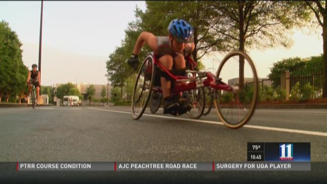 AJC Peachtree Road Race: Wheelchair racer uses his experience to teach others
