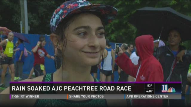 Rain soaks AJC Peachtree Road Race