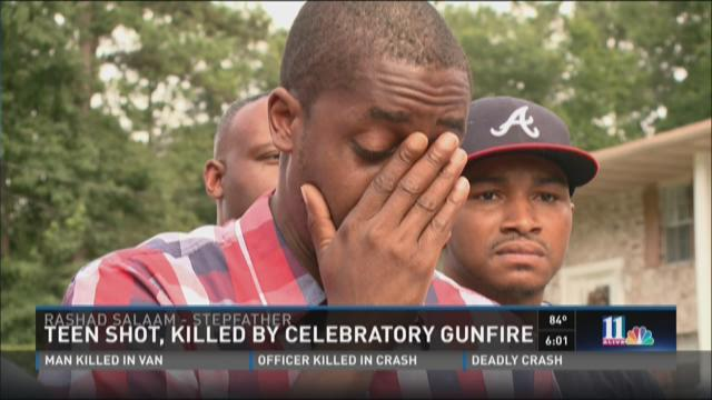 Teen shot, killed by celebratory gunfire