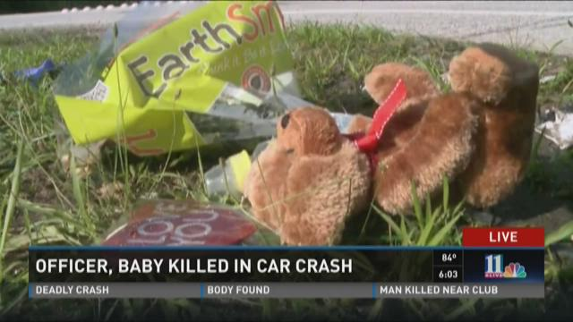 Officer, baby killed in car crash