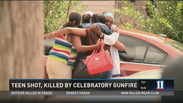 Teen shot, killed by celebratory gunfire
