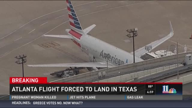 American Airlines flight forced to land in Texas
