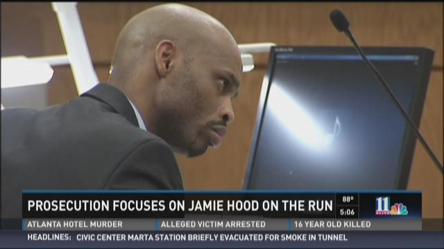 Prosecution focuses on Jamie Hood on the run