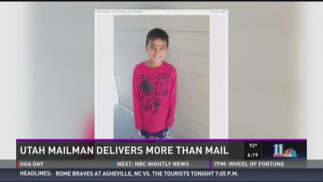 Utah mailman delivers more than mail