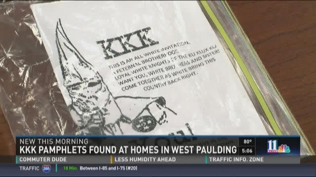 KKK flyers found in Paulding County