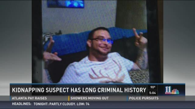 Kidnapping suspect has long criminal history