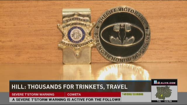 """Money clip and """"challenge coin"""" custom-made for Sheriff"""