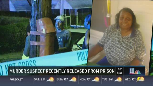 Murder suspect recently released from prison