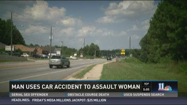 Man uses car accident to assault woman