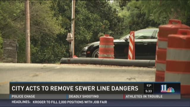 City removes sewer line dangers