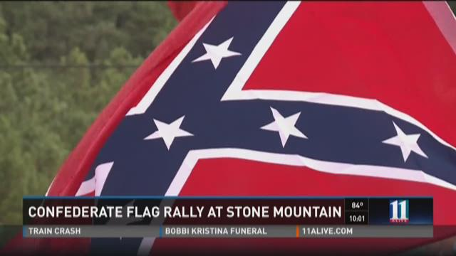 Confederate Flag Rally at Stone Mountain