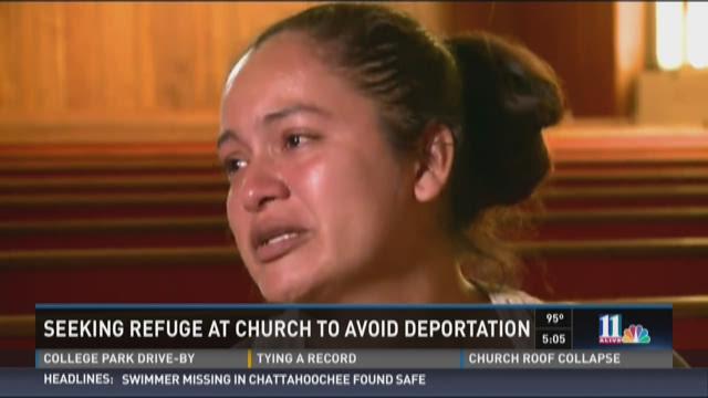 Woman seeking refuge at church to avoid deportation