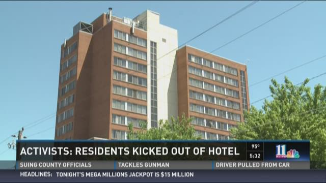 Activists: Residents kicked out of hotel