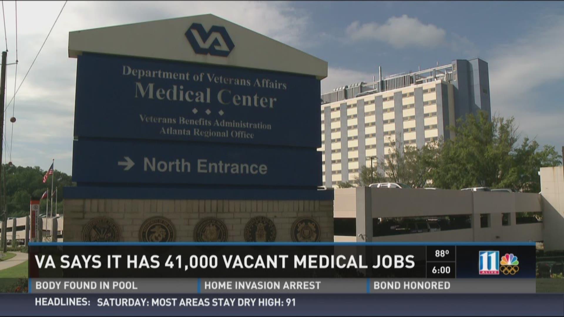 VA says it has 41,000 vacant medical jobs
