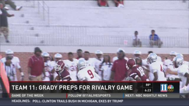 #Team11: Grady preps for rivalry game