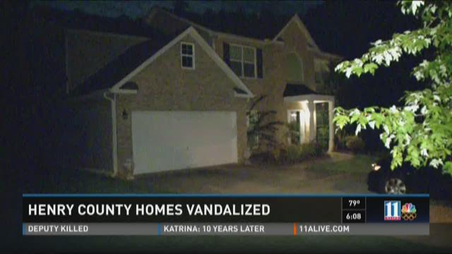 Vandals hit at least 15 Henry County homes Friday night,